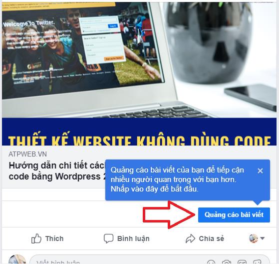 Quang Cao Link Website Tren Facebook