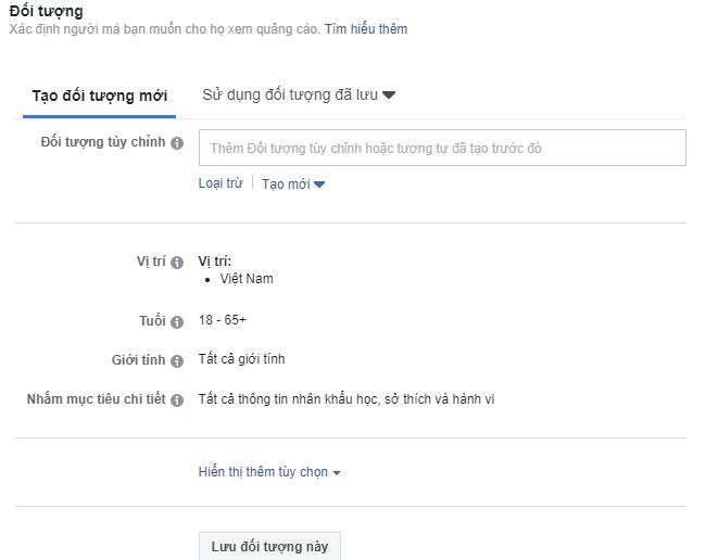 Them Doi Tuong Quang Cao Facebook