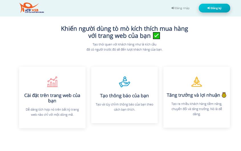 Hướng dẫn tạo thông báo ảo trên website giúp tặng chuyển đổi mua hàng miễn phí