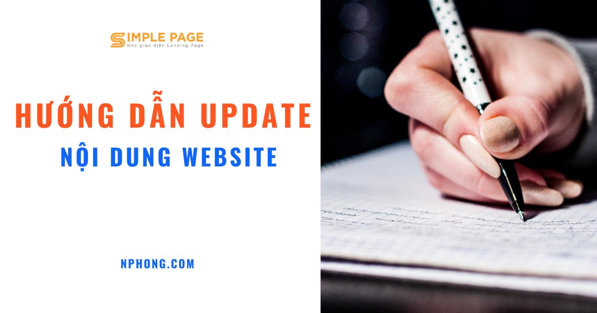 Hướng dẫn update nội dung bài viết website để duy trì keyword SEO